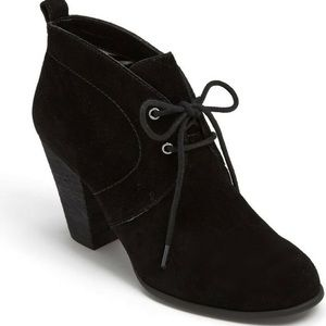 LUCKY Brand Unitas Black Suede Ankle Booties